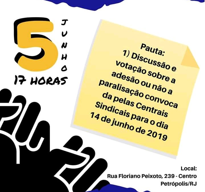 Assembléia Geral dos professores das escolas particulares de Petrópolis